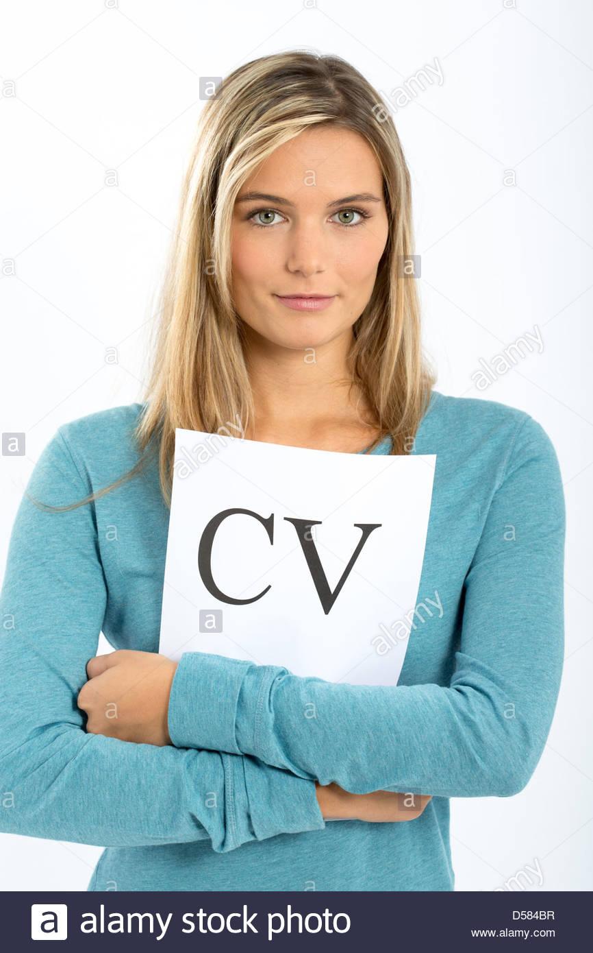 woman cv candidature stock image - Goring Eckardt Lebenslauf