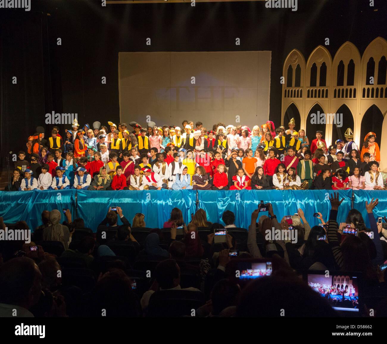 Curtain Call Performance Of The Arabian Nights At Theatre British International School Cairo Egpyt BISC
