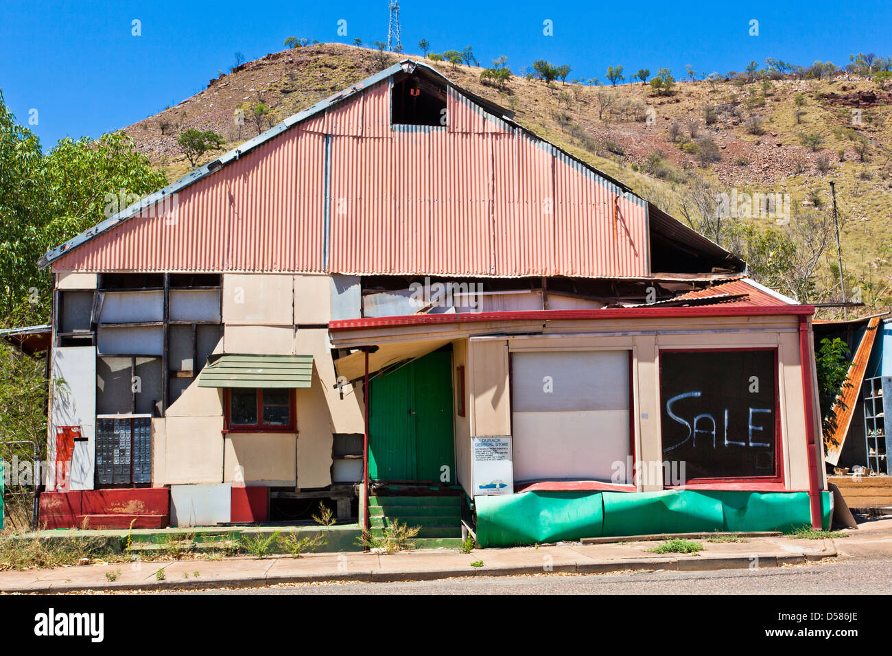 Australia, Western Australia, Wyndham, ghosttown atmosphere at Wyndham Port - Stock Image