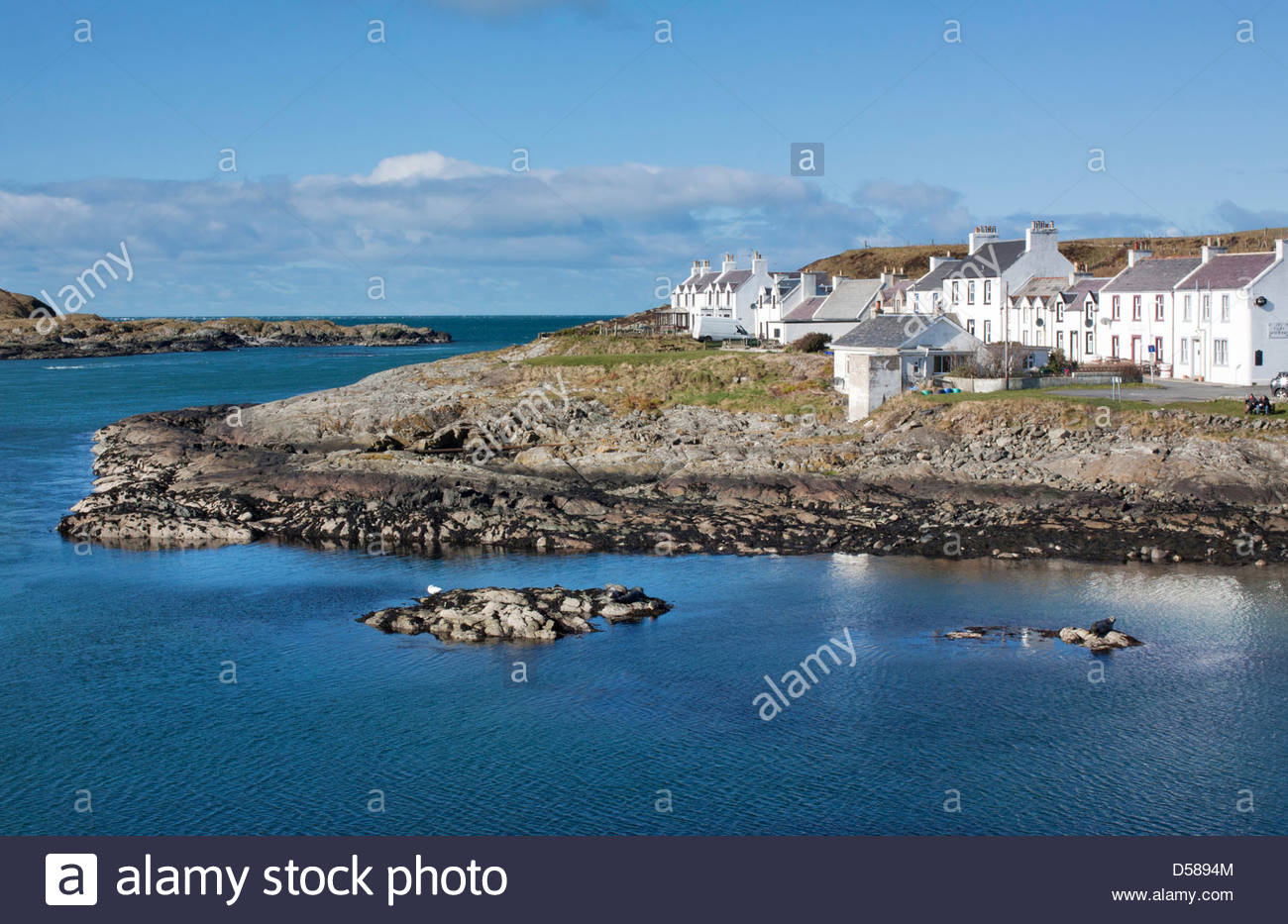 Portnahaven, Islay, An Island of the Inner Hebrides, Scotland - Stock Image