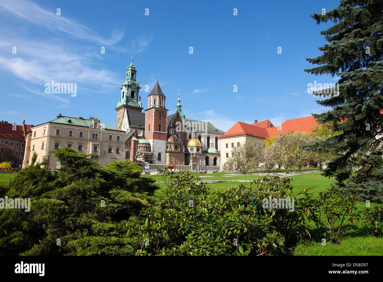 Wawel cathedral is a Roman Catholic church located on Wawel Hill in Krakow, Poland. - Stock Image