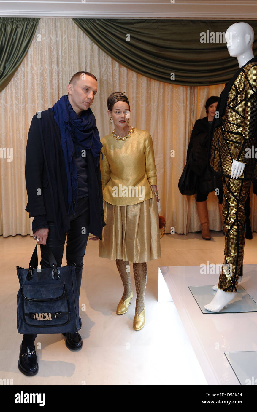 Hubertus Regout And Britt Kanja At Mercedes Benz Fashion Week Berlin