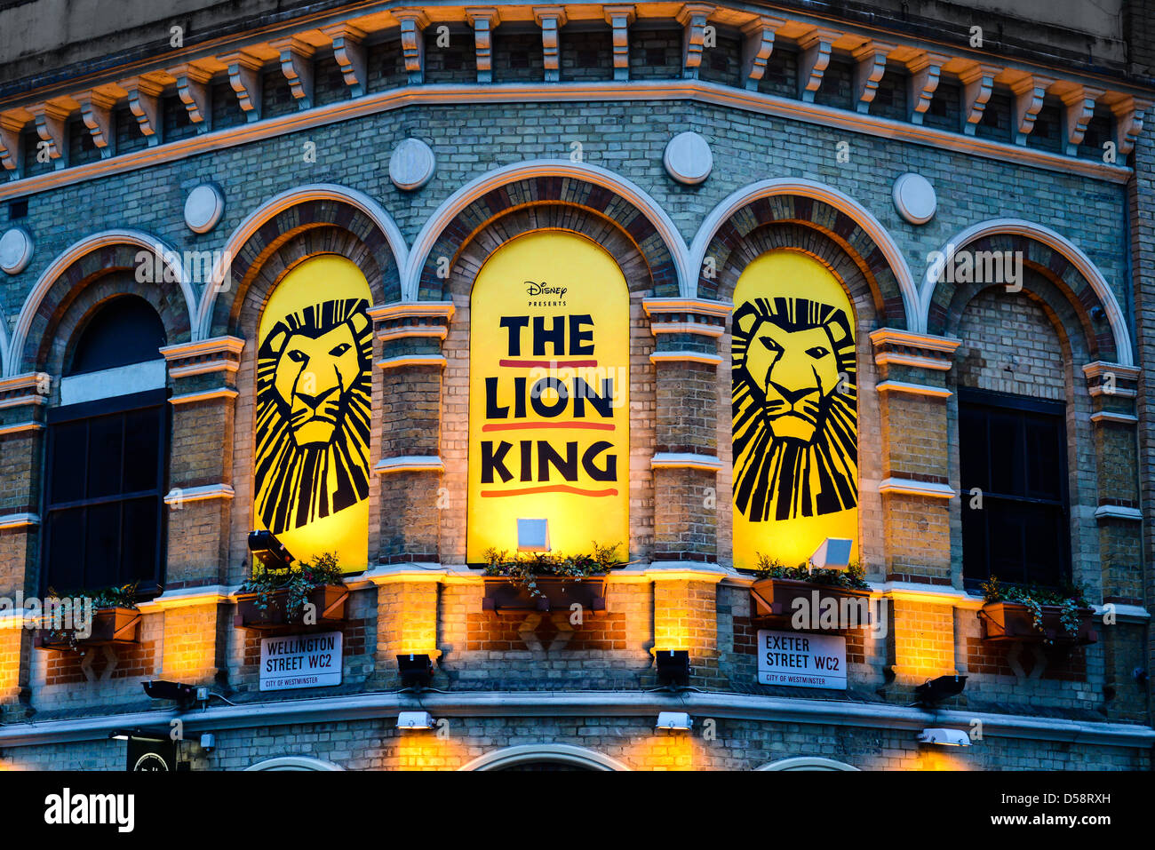 the lion king is performing at the lyceum theatre  theater