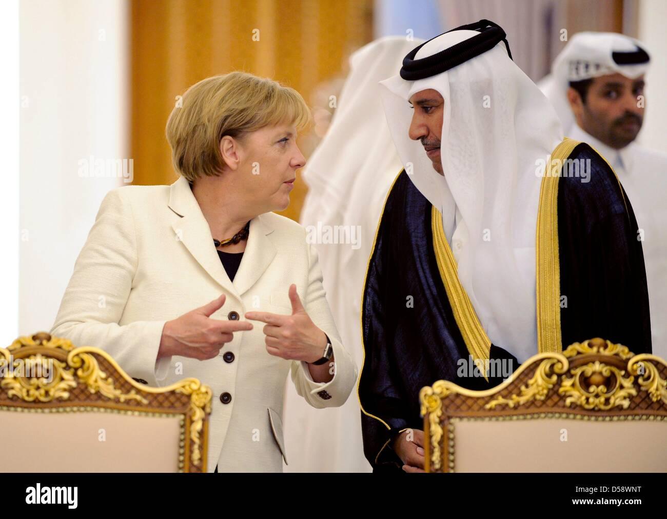 WIEDERHOLUNGINBESSERERQUALITÄT - Bundeskanzlerin Angela Merkel (CDU) und der Premierminister - Stock Image