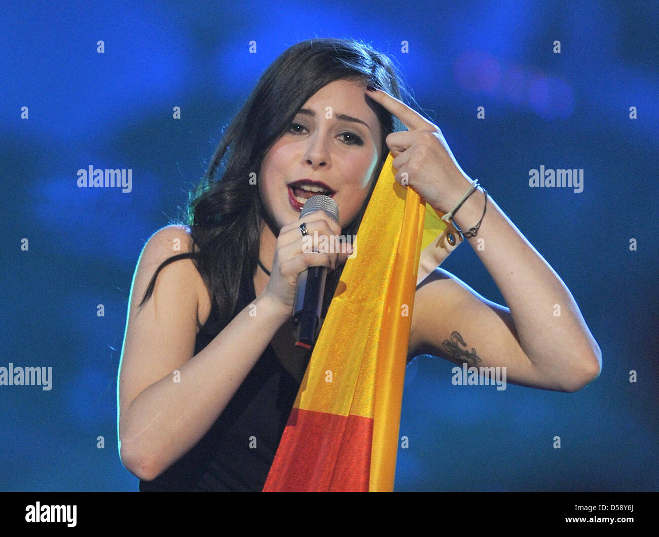 Lena Meyer Landrut Representing Germany Ist The Winner Of The Stock Photo Alamy