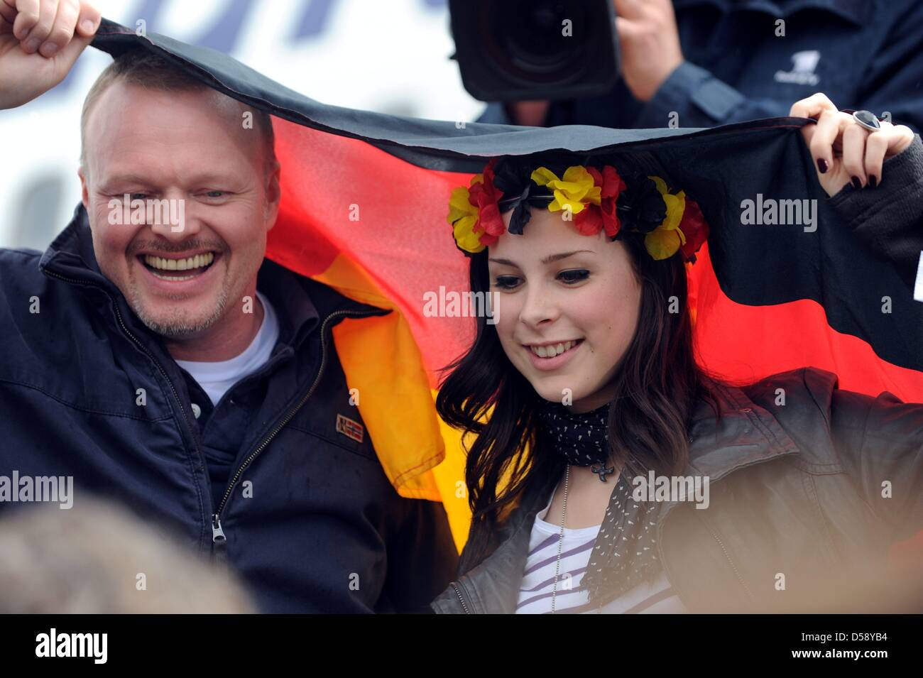 German Lena Meyer Landrut Winner Of The Eurovision Song Contest And Stock Photo Alamy