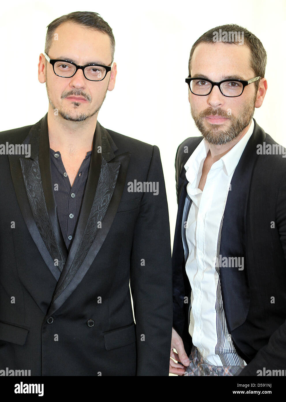 Fashion Designers Rolf Snoeren L And Viktor Horsting R Of Fashion Stock Photo Alamy