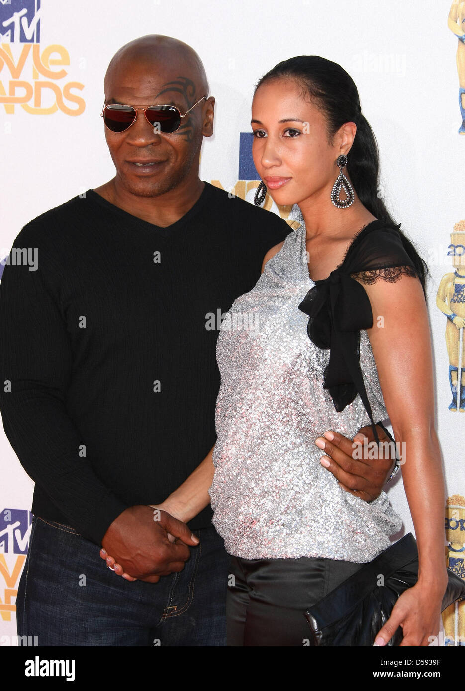 former boxing champion mike tyson and his wife lakiha spicer arrive