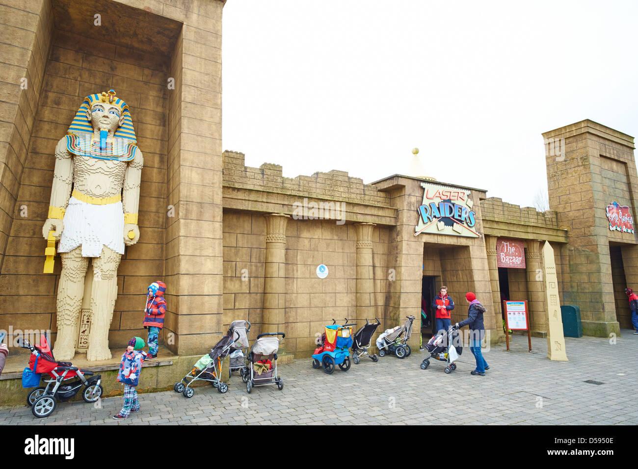 Laser Raiders within the Kingdom of the Pharaohs Legoland Windsor UK Stock Photo