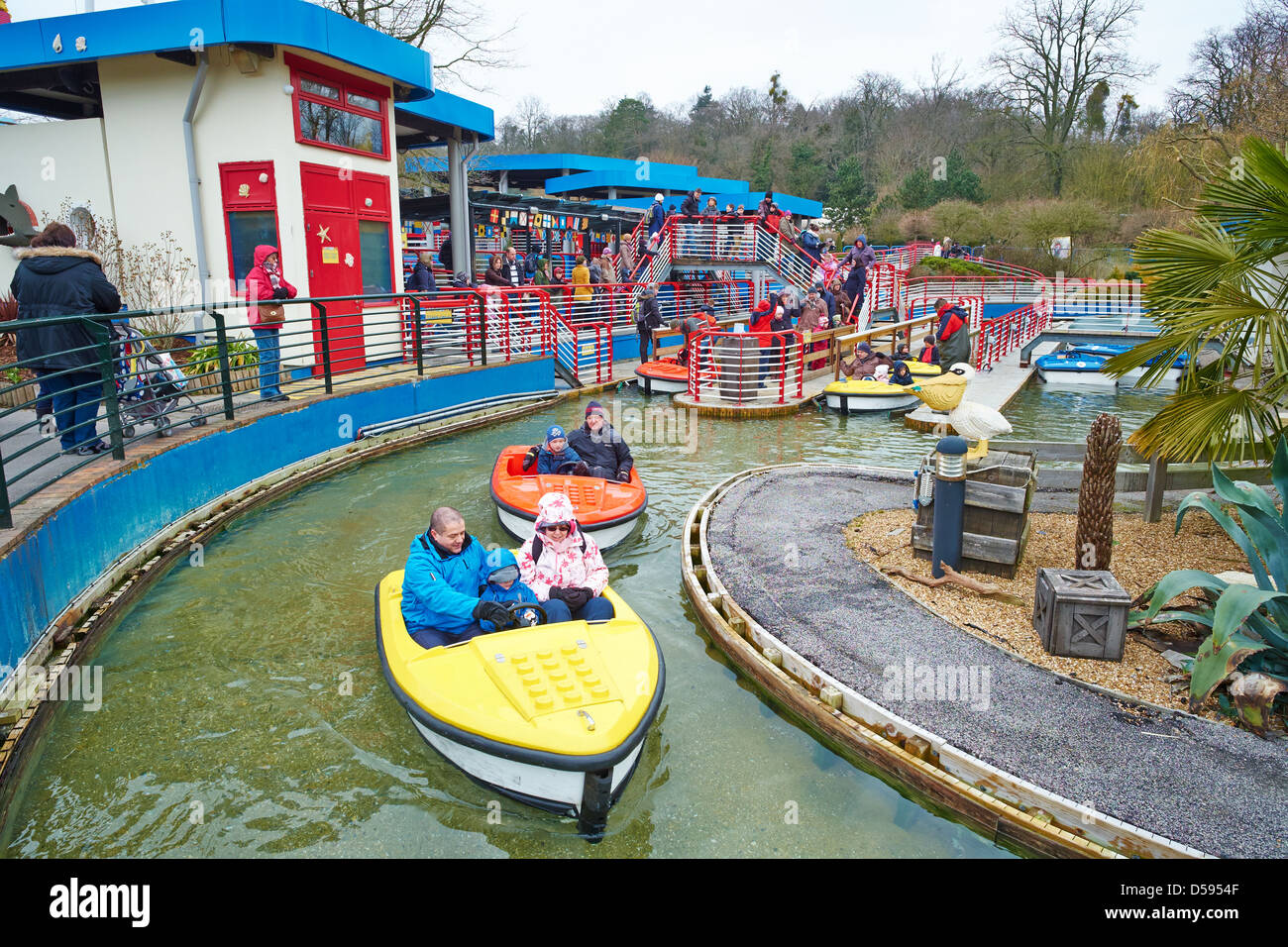 Boating School Legoland Windsor UK Stock Photo