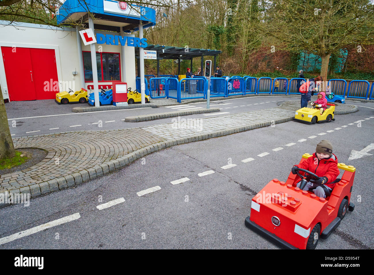 Driving School for under 5 year olds Legoland Windsor UK Stock Photo