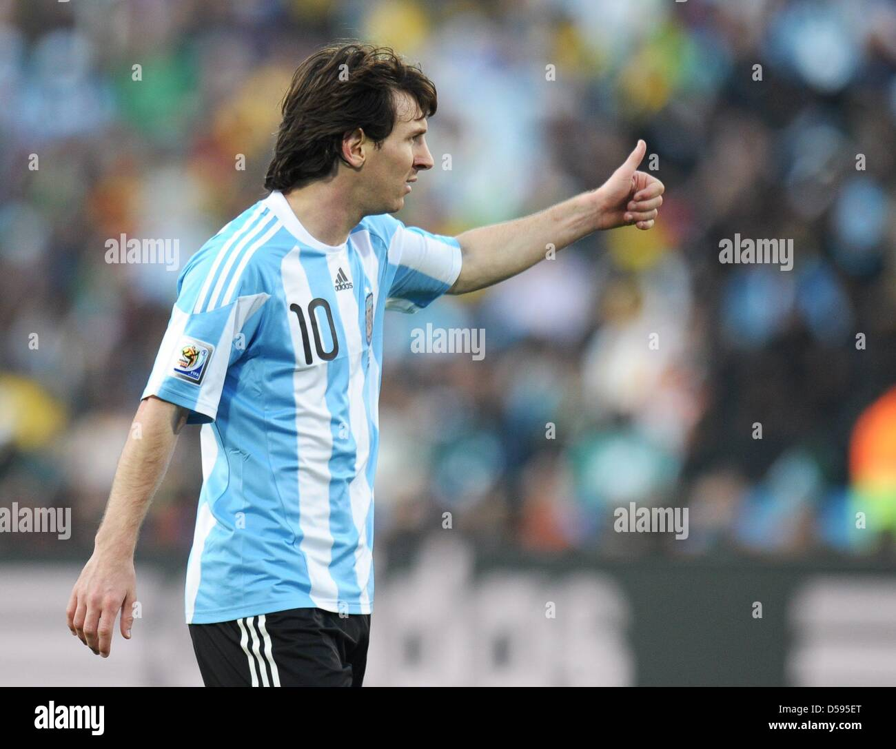 5e5b027e6 Lionel Messi of Argentina gestures during the FIFA World Cup group B soccer  match between Argentina and Nigeria at Ellis Park Stadium in Johannesburg