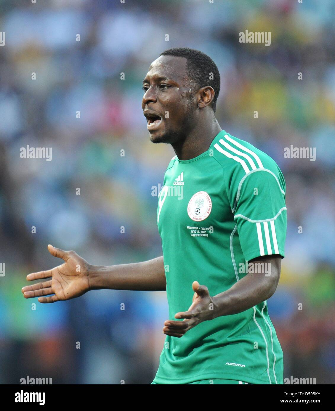 best service e24f0 b9ca1 Chinedu Obasi of Nigeria gestures during the FIFA World Cup ...