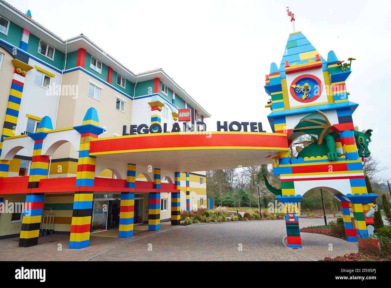 Entrance to the Legoland Hotel Windsor UK Stock Photo ...