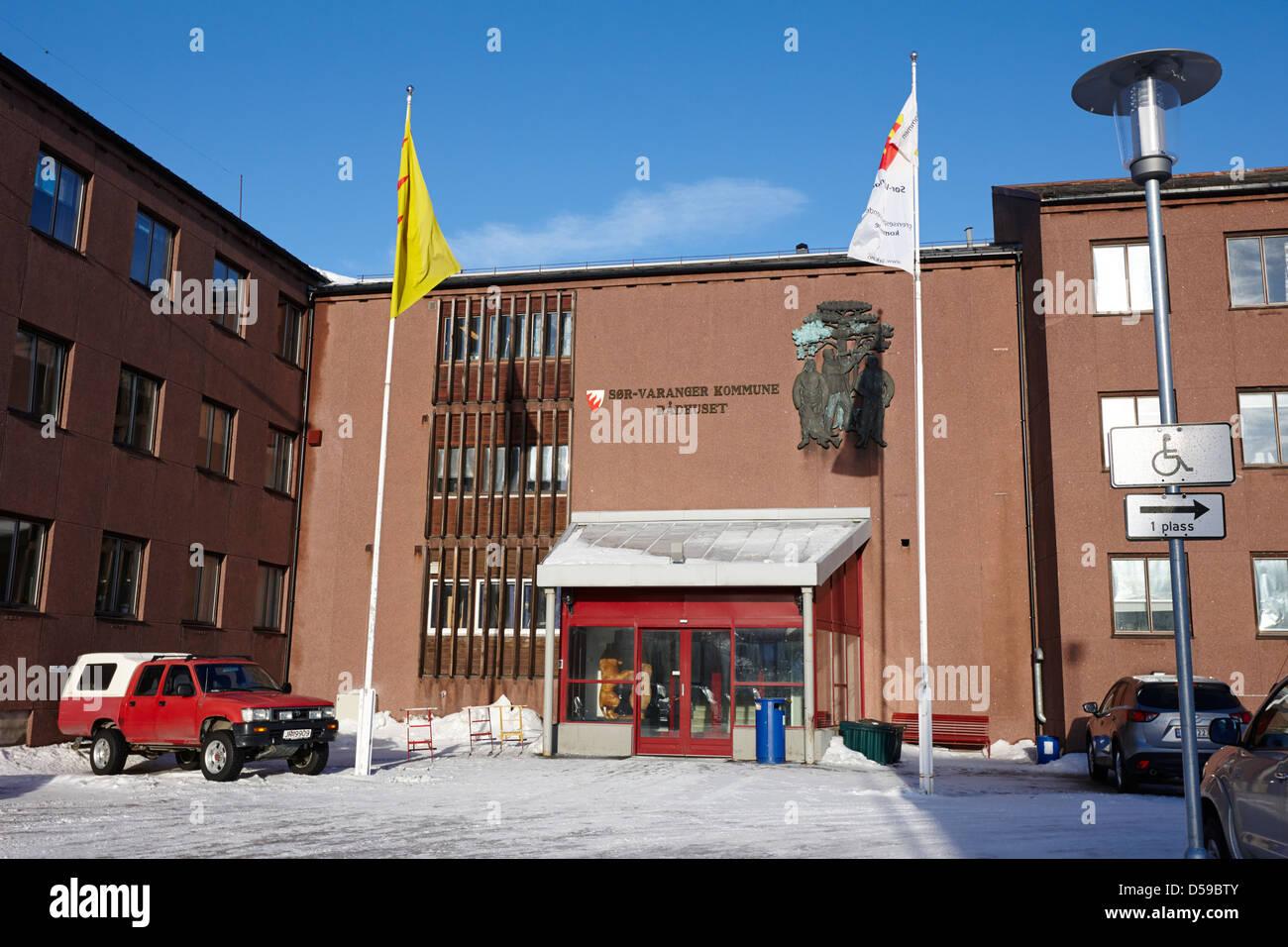 sor-varanger kommune administration building council offices kirkenes finnmark norway europe Stock Photo