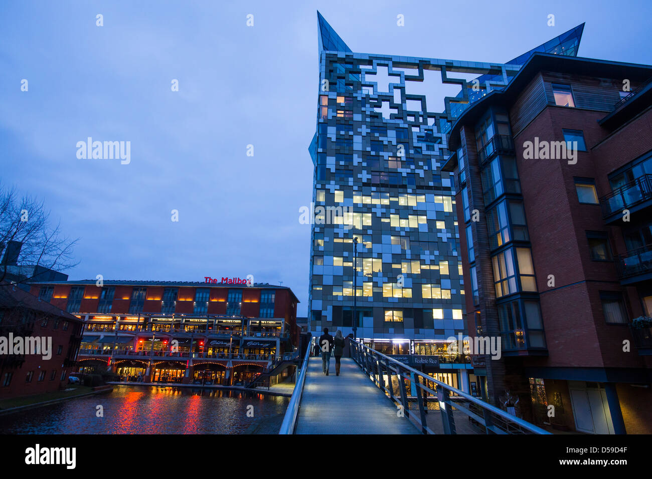 The Mailbox and The Cube in Birmingham city centre, UK - Stock Image