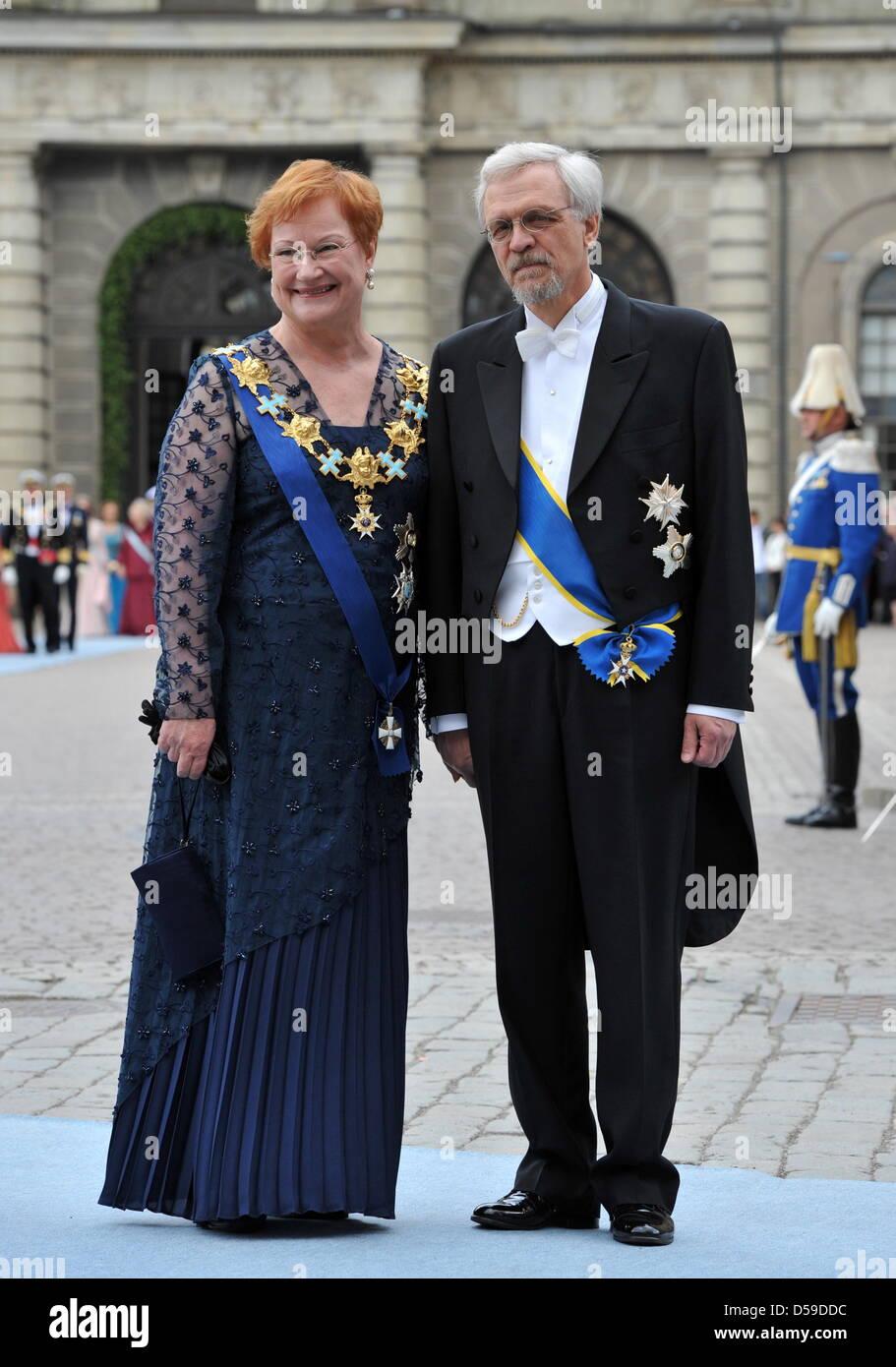 finlands president tarja halonen husband stock photos