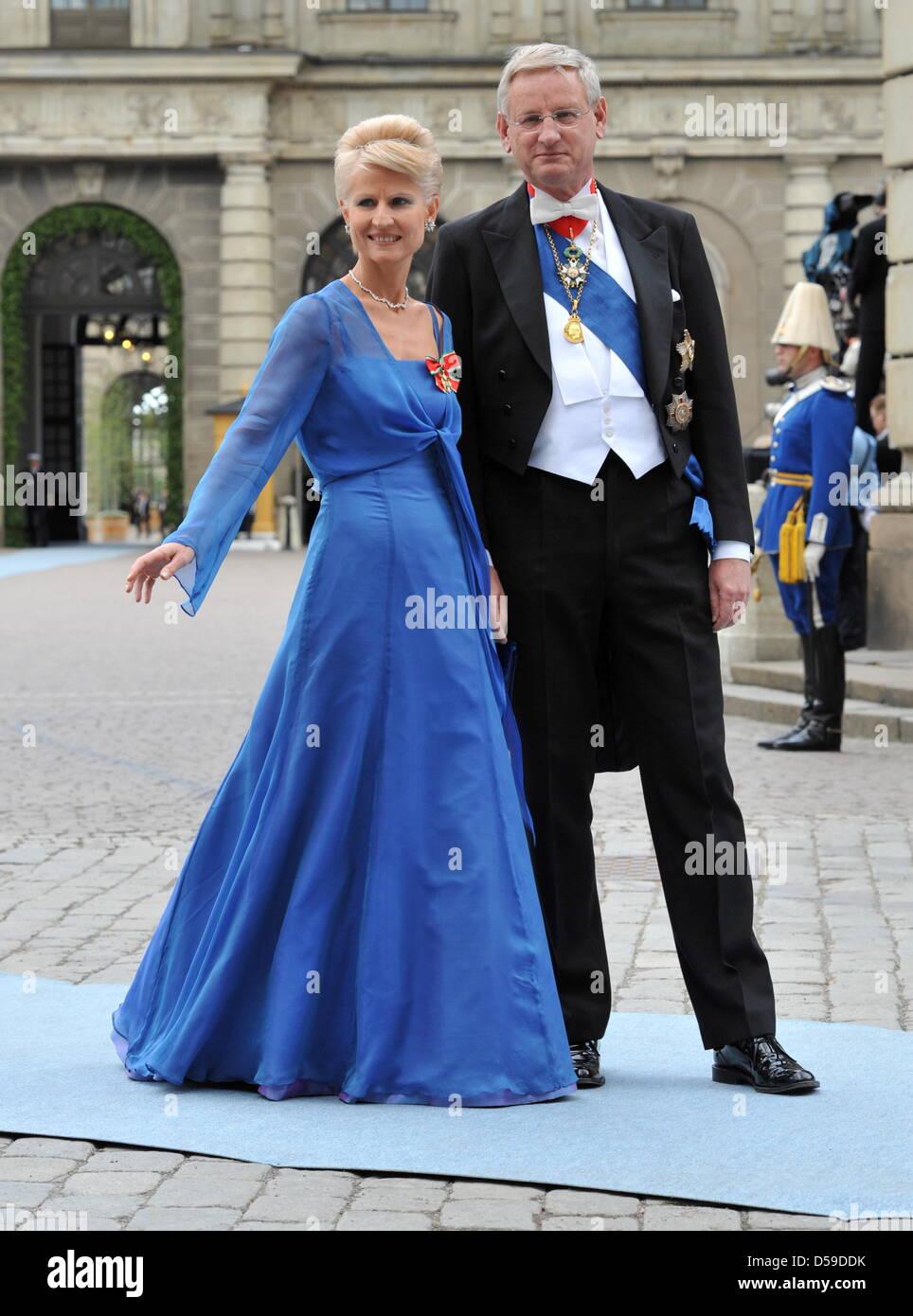Swedish Politician And Diplomat Carl Bildt And Wife Anna Maria