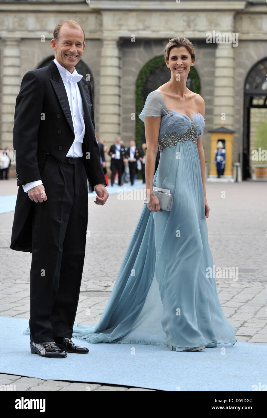 Prince Kyril of Bulgaria and his wife Rosario Nadal arrive for the ...