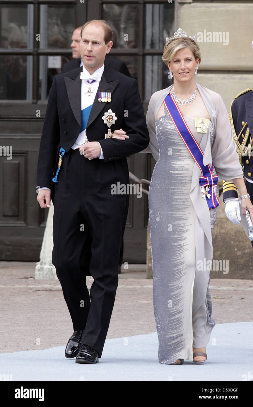 Prince Edward And Sophie WeddingStock Photos and Images