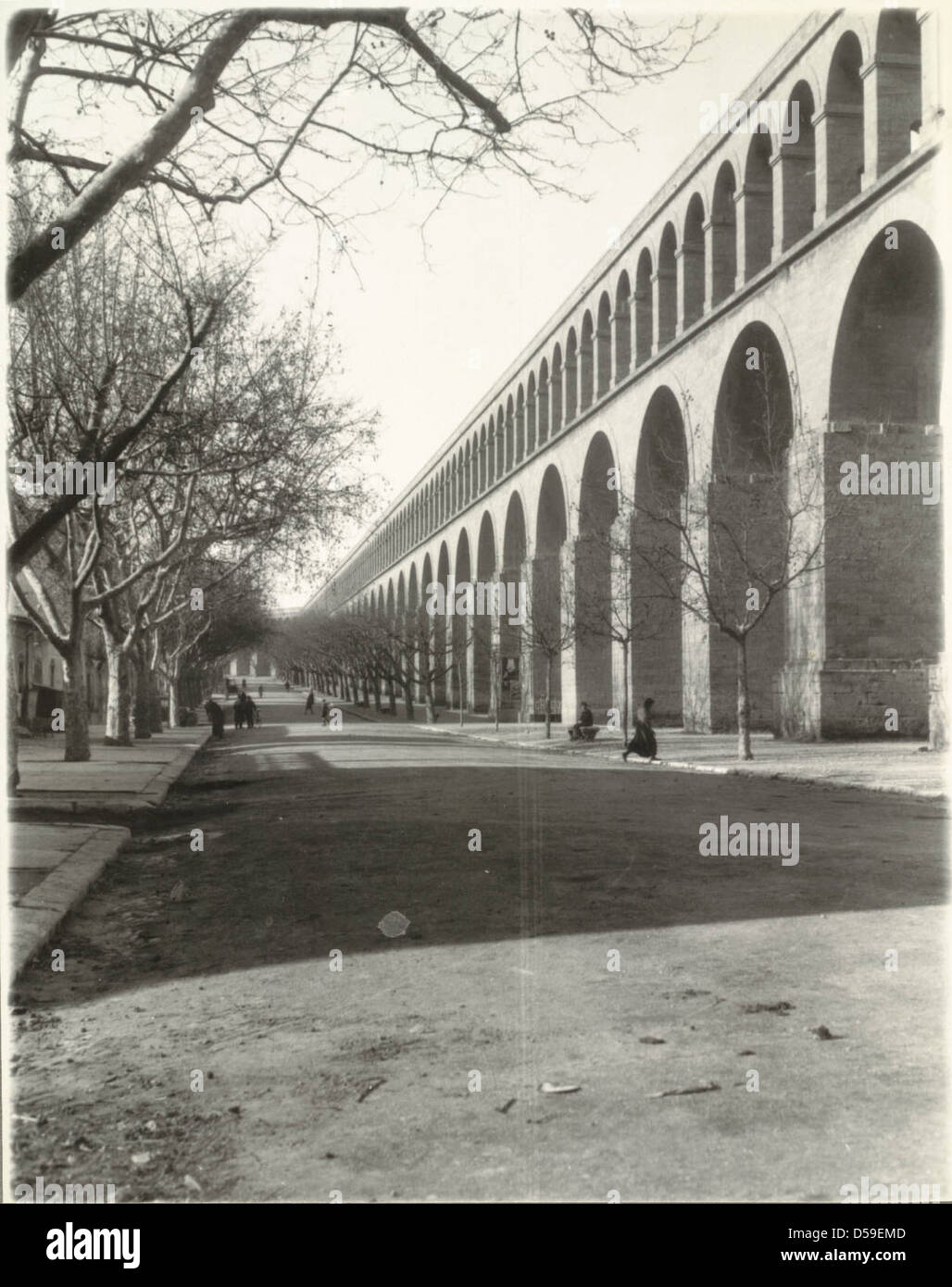 Montpellier. Le Peyrou, Aqueduct Stock Photo