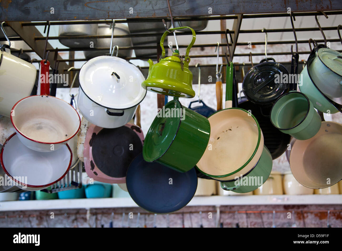 Kitchenalia Rental Shop at Old Biscuit Mill in Woodstock Cape Town - South Africa - Stock Image