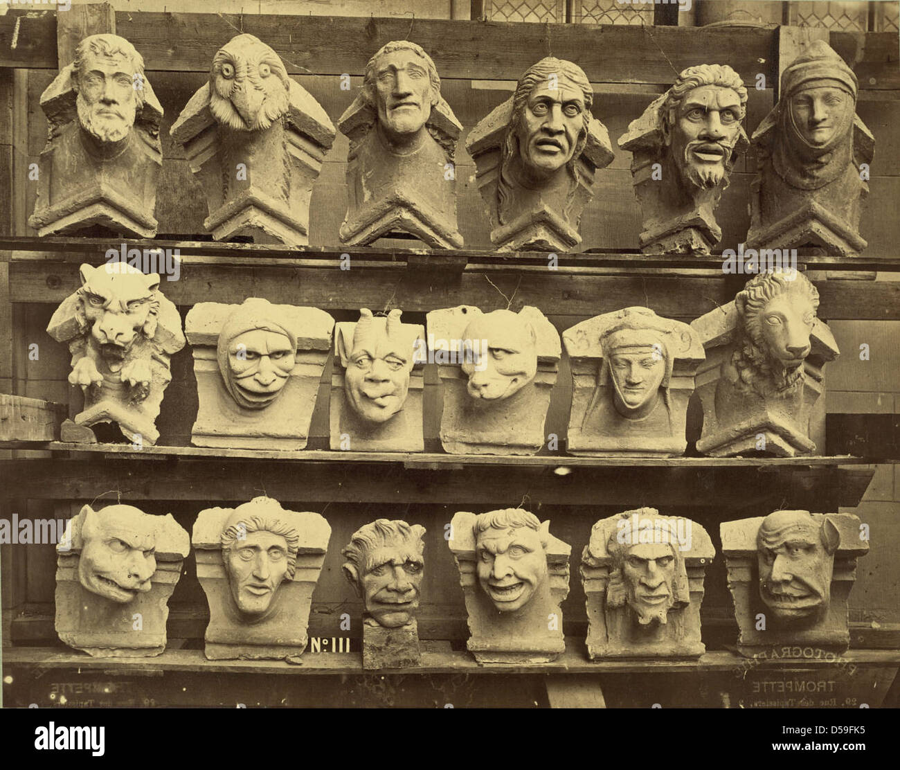 Collection of Grotesques, France Stock Photo