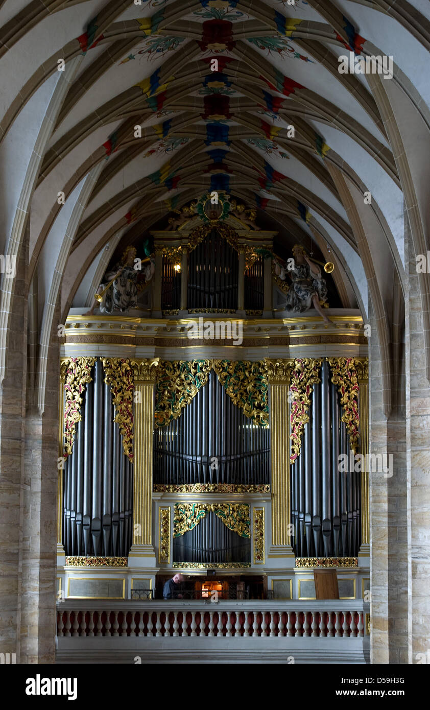 Organ Builder Markus Schanze Works On A Silbermann Dating 1714 In The Cathedral Of Freiberg Germany 22 June 2010 Is One Worlds