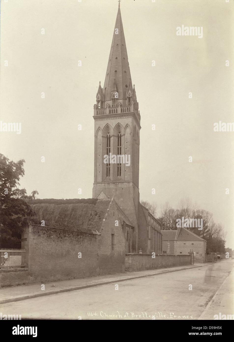 Church at Bretteville Stock Photo