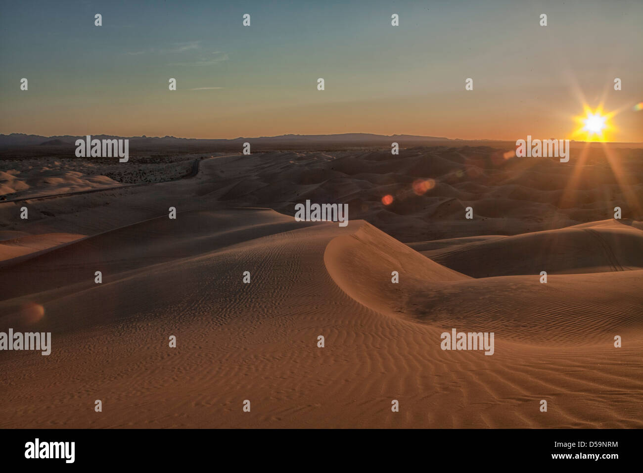 Imperial Sand Dunes, on the California Arizona Mexican Border at ...