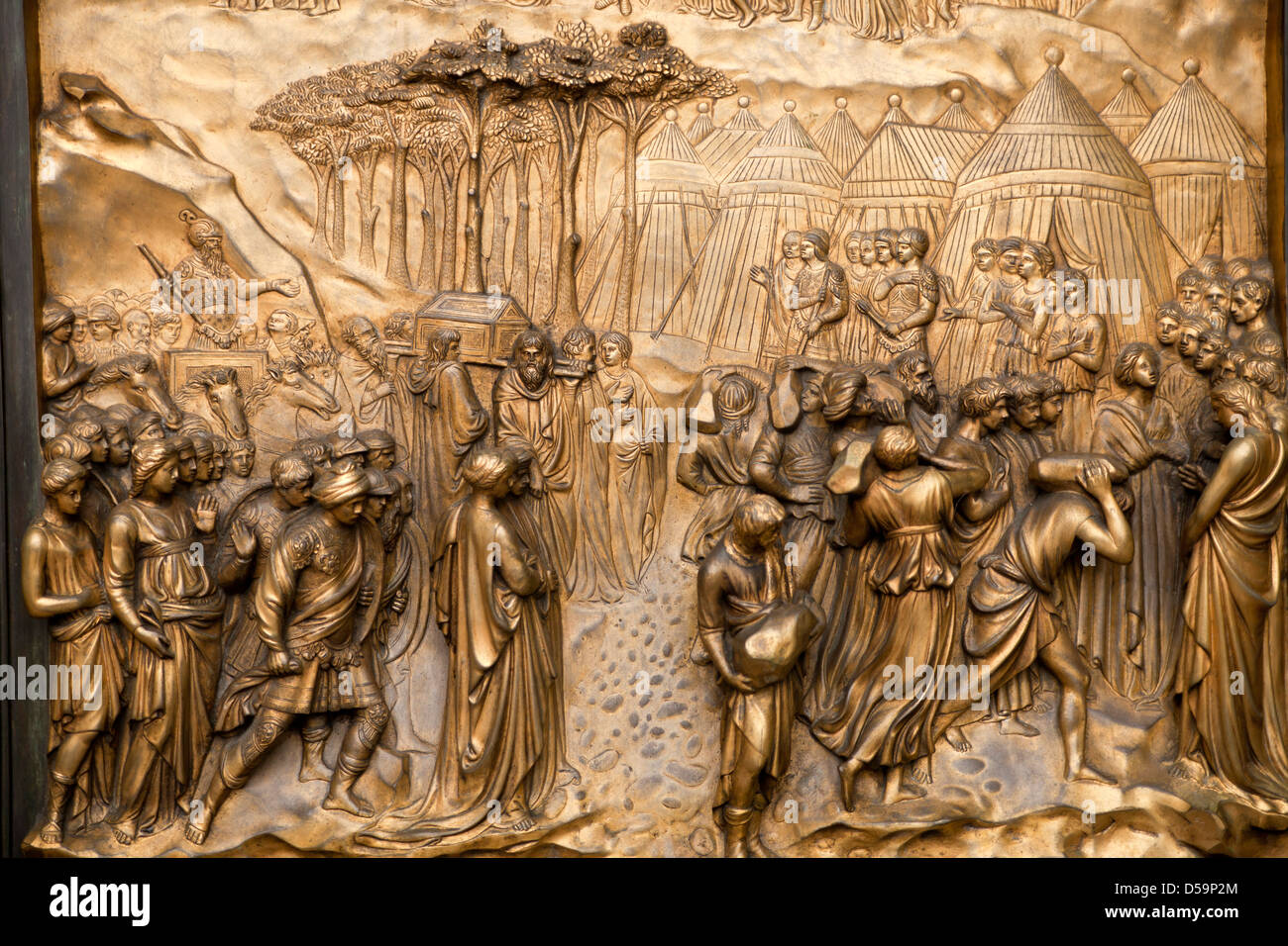 detail of the Ghiberti doors or Gates of Paradise at Grace Cathedral San Francisco & Gates Of Paradise Stock Photos \u0026 Gates Of Paradise Stock Images - Alamy