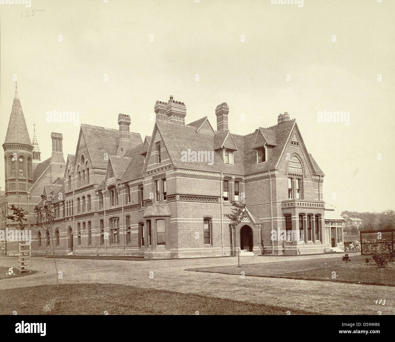 Reading. Grammar School and Master's House Stock Photo