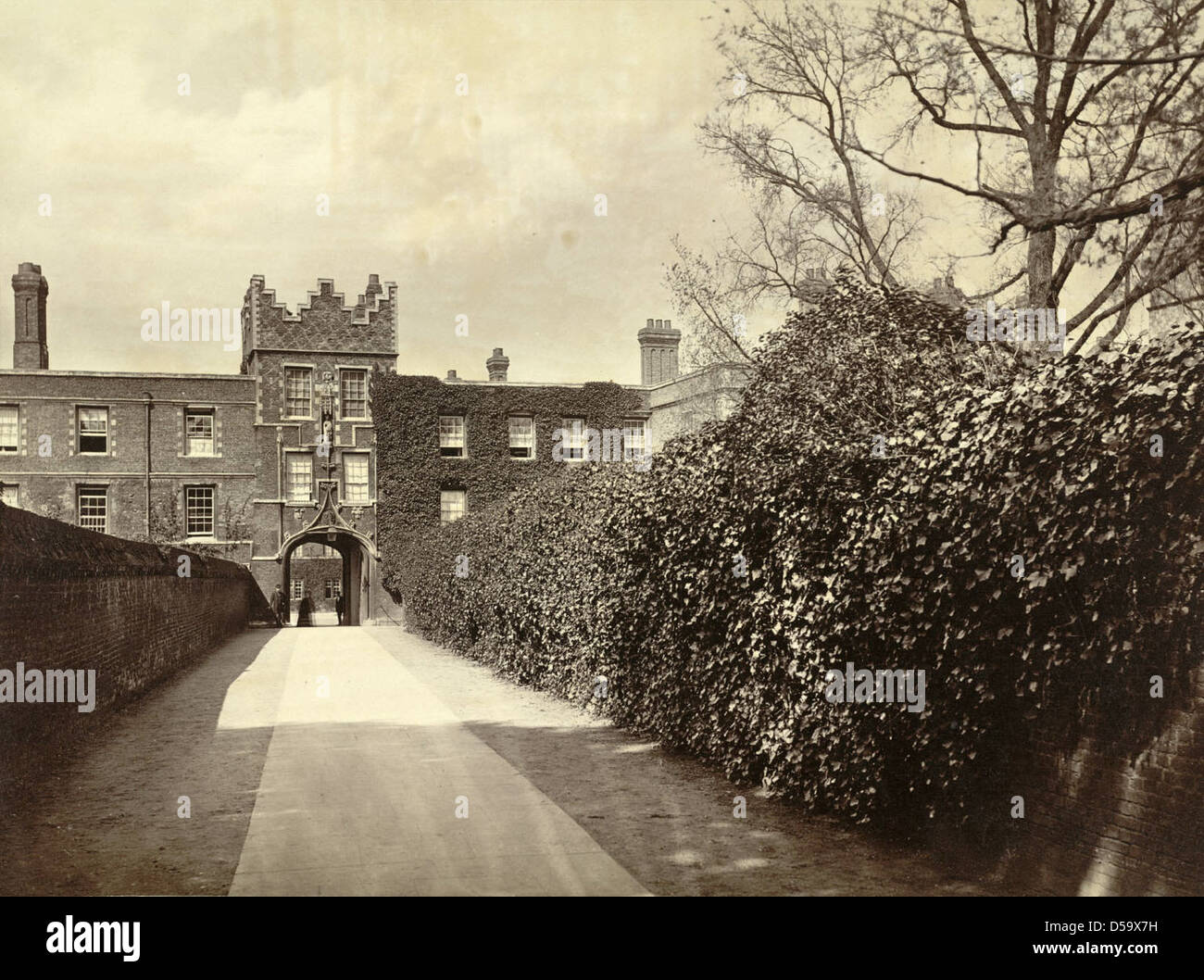 Cambridge. Jesus College, Entrance - Stock Image
