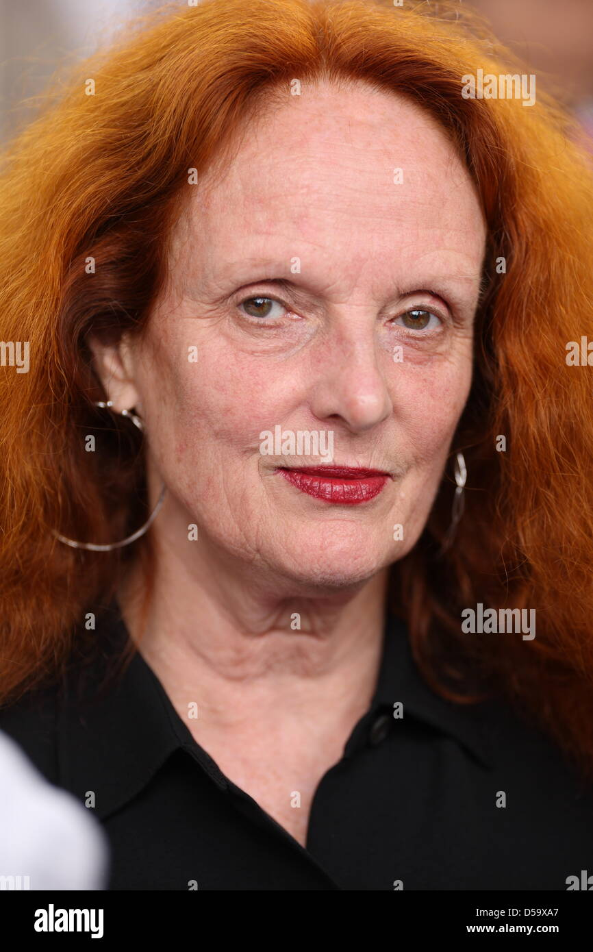 Grace Coddington attends Christian Dior Haute Couture fashion fall winter 2010/2011 collection presented during - Stock Image