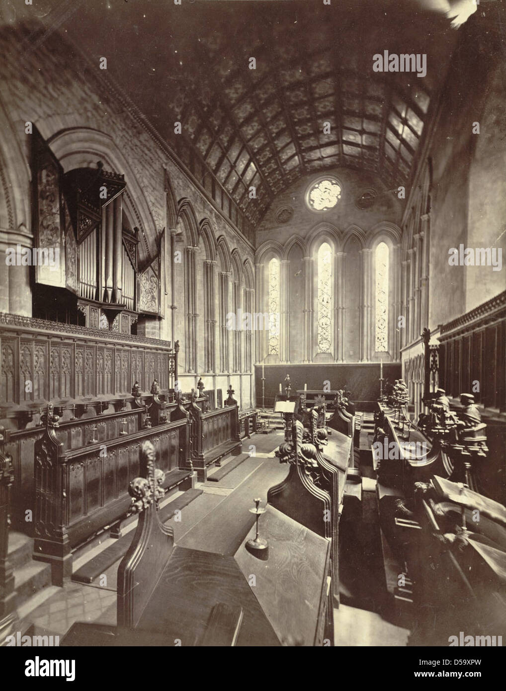 Cambridge. Jesus College (Chapel) - Stock Image