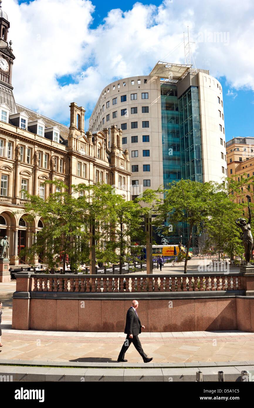 Leeds City Square, West Yorkshire UK - Stock Image