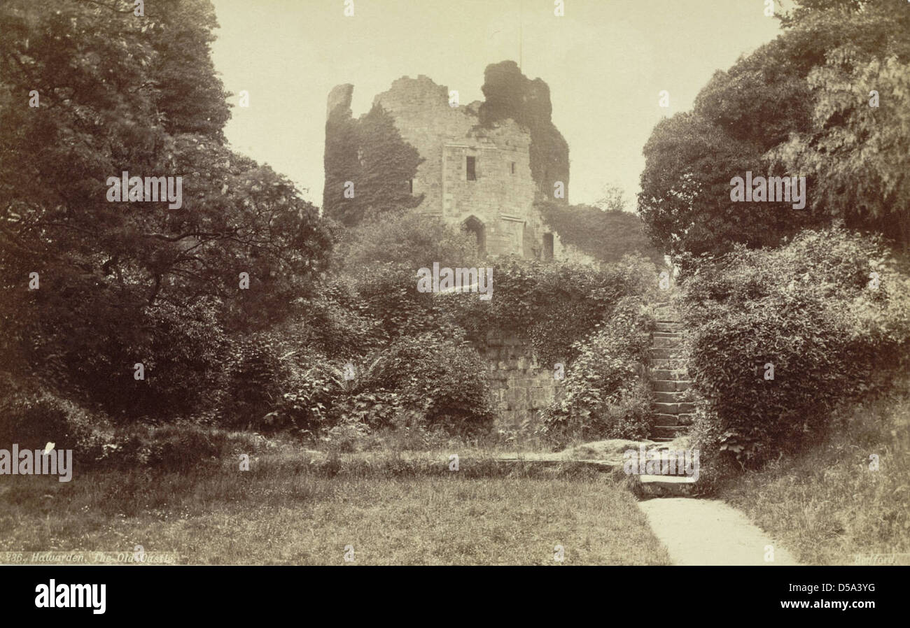 Hawarden, the Old Castle Stock Photo