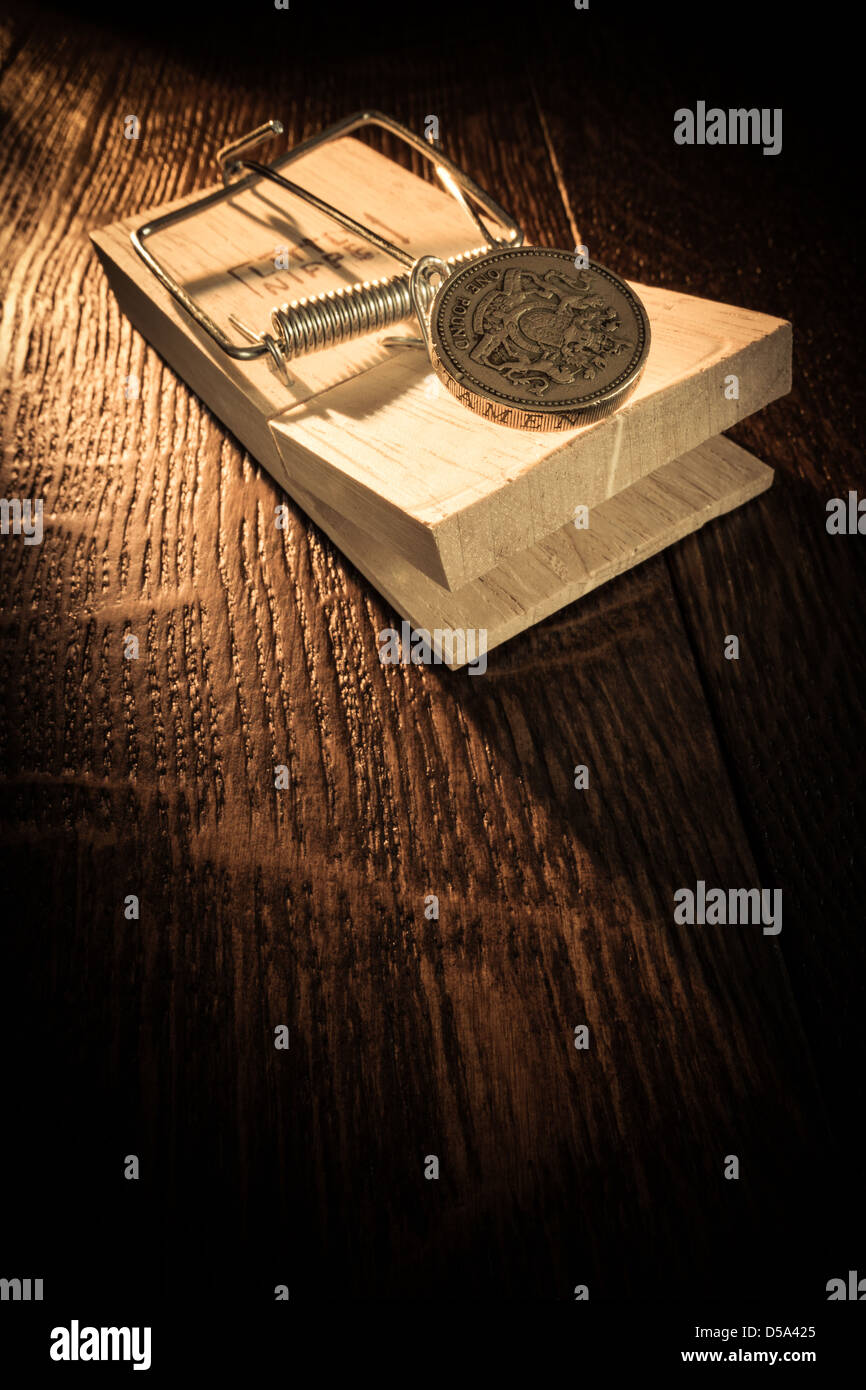 The Money Trap! - Stock Image