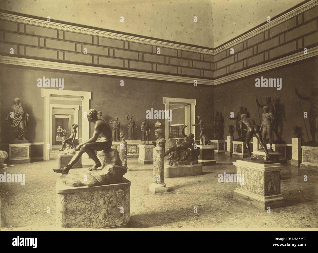 Gallery of Bronzes, Naples Museum Stock Photo