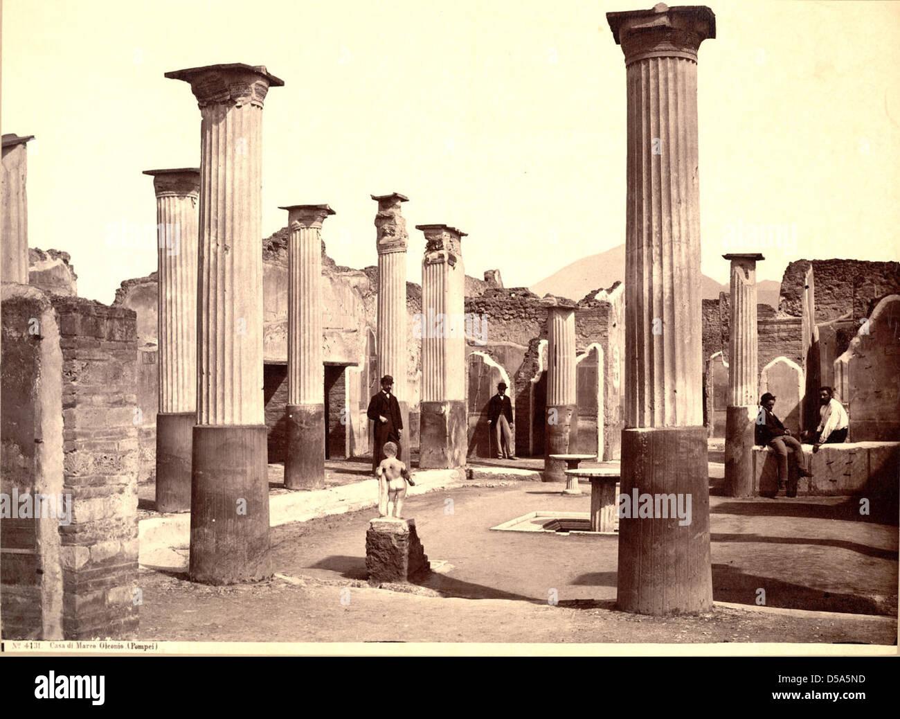 Casa di Marco Olconio, Pompei (House of Olconius, Pompeii) Stock Photo