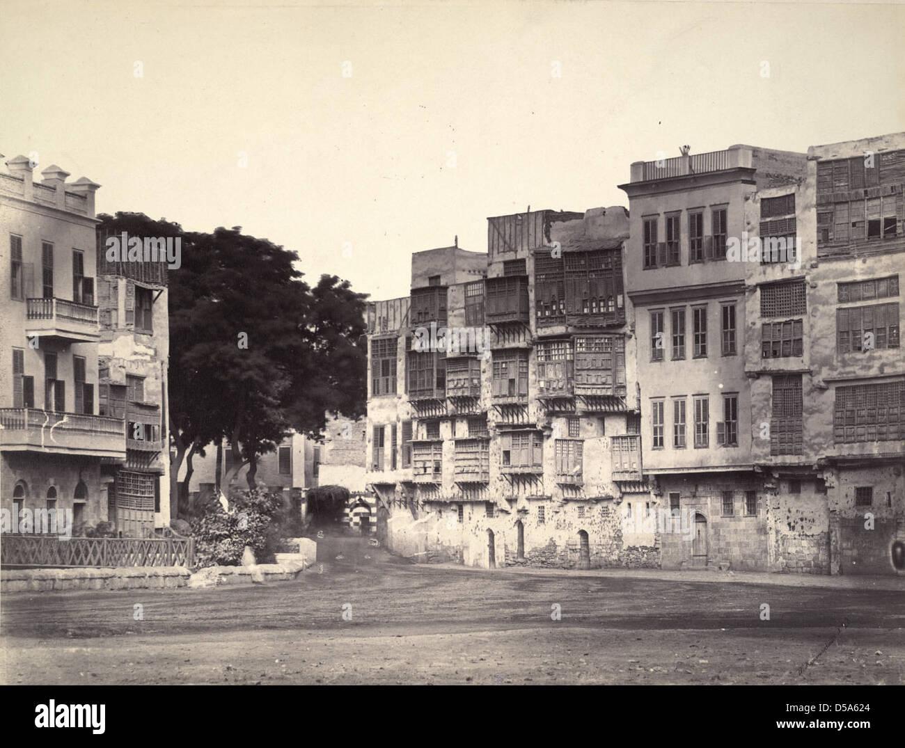 Coptic Houses, Cairo Stock Photo