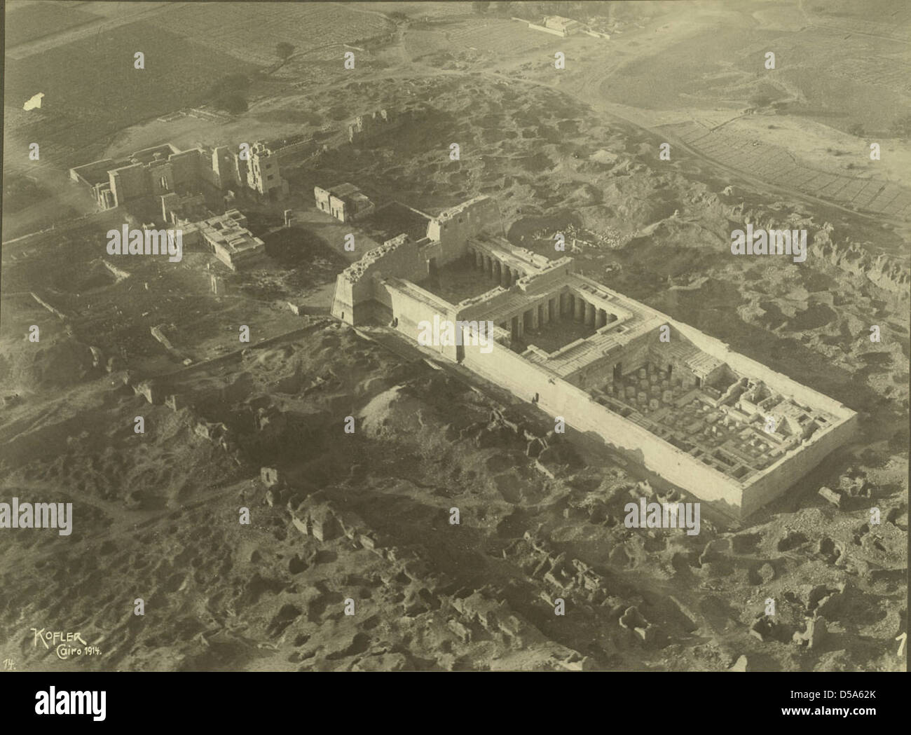 Egyptian Temple Complex Stock Photo