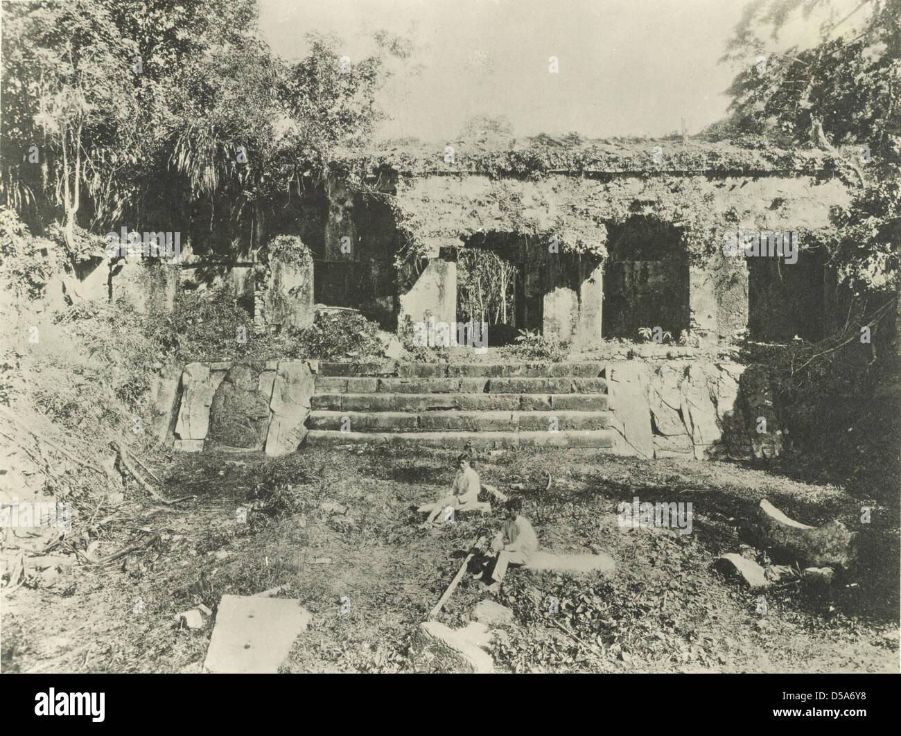 Palace, Palenque Stock Photo