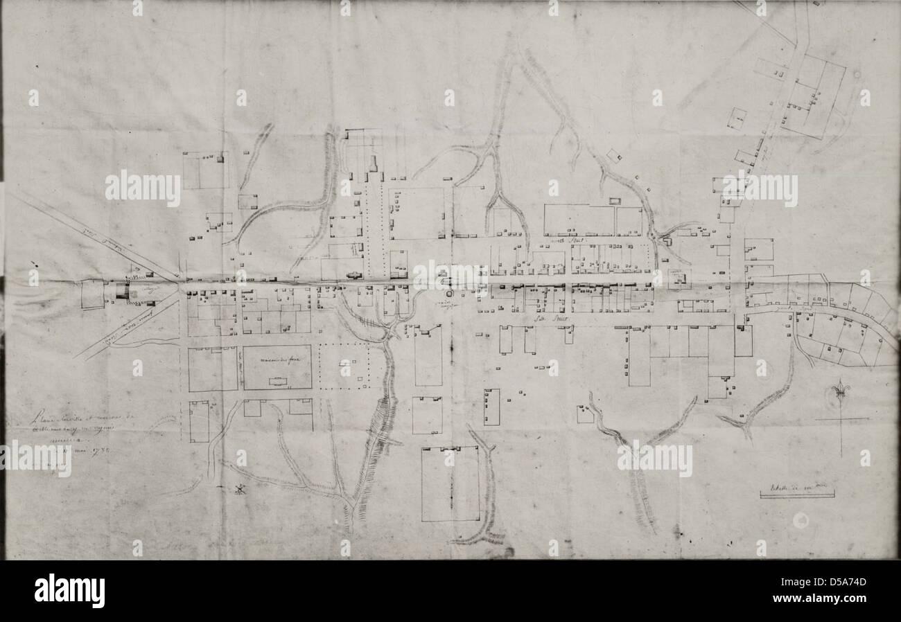 Frenchman's Map of Williamsburg, Virginia Stock Photo