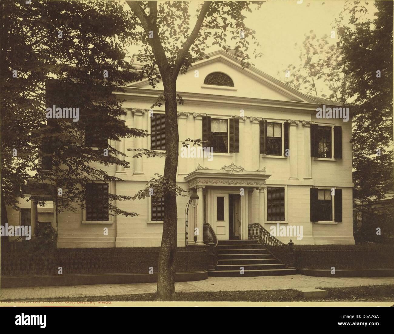 Old Assembly House, 138 Federal Street, Salem Stock Photo