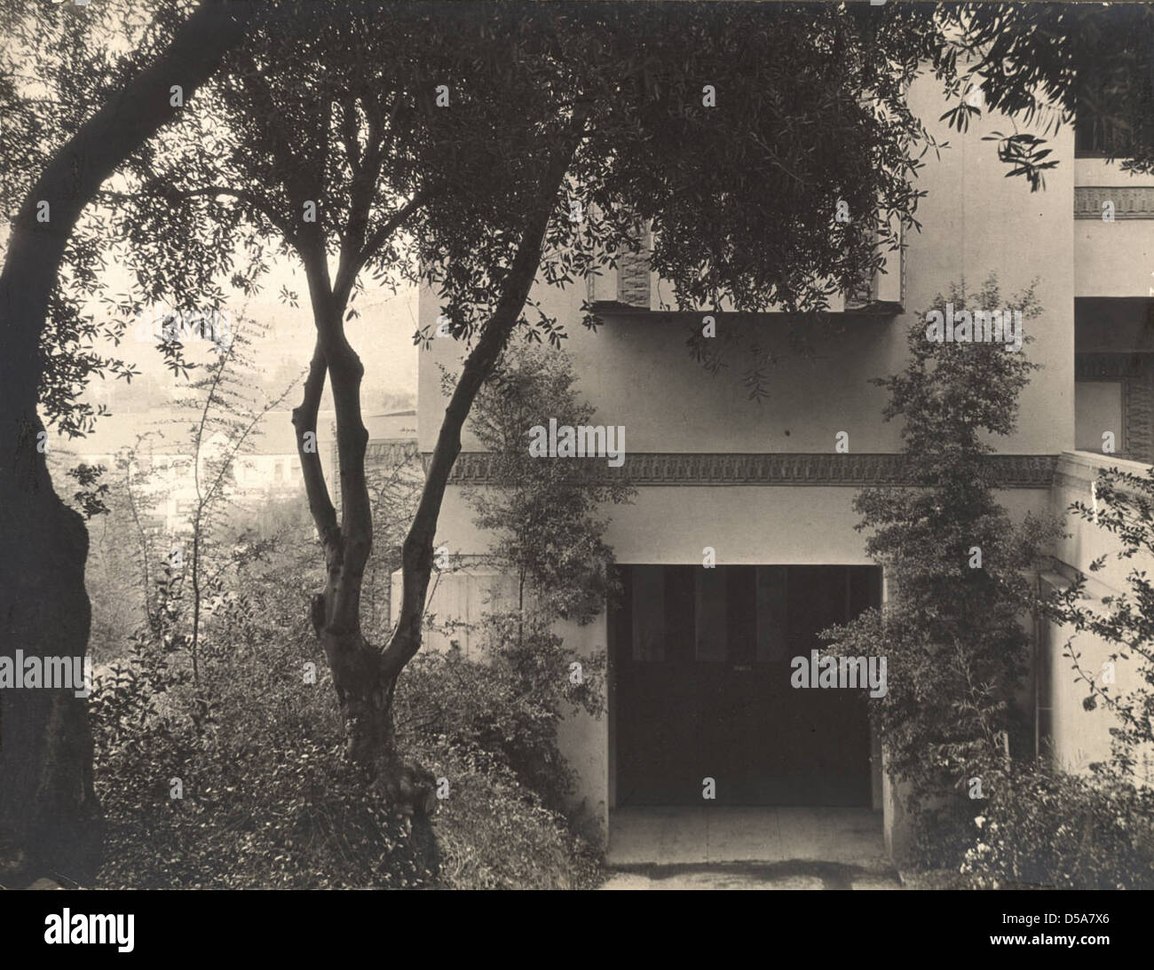 Untitled (East elevation detail, Barnsdall Studio Residence A) Stock Photo