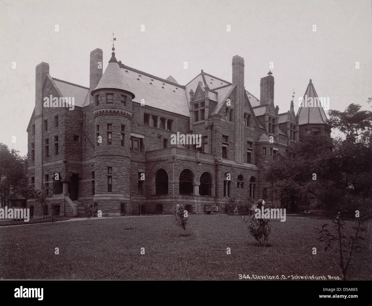 Cleveland Mansion Stock Photo