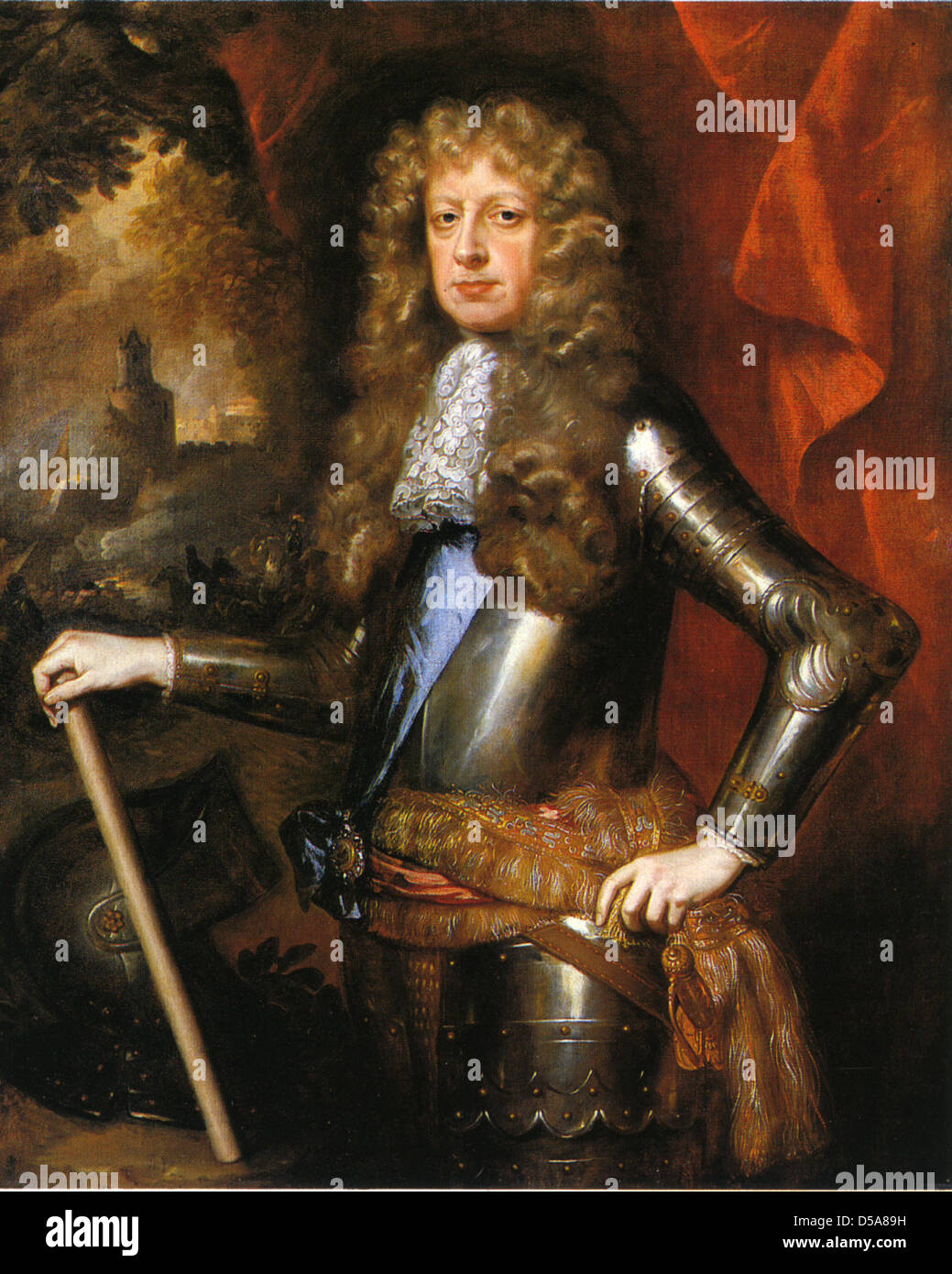 JAMES BUTLER, 1st Duke of Ormonde (1610-1688) Anglo-Irish statesmanr painted by William Wissing about 1680 - Stock Image