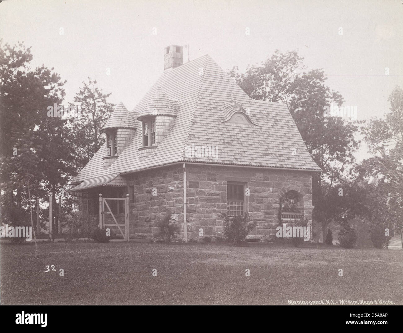 Gatehouse, Osborn Residence, Mamaroneck, New York Stock Photo