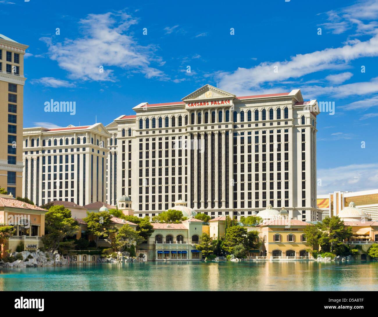Caesars Palace hotel, The Strip, Las Vegas Nevada USA - Stock Image